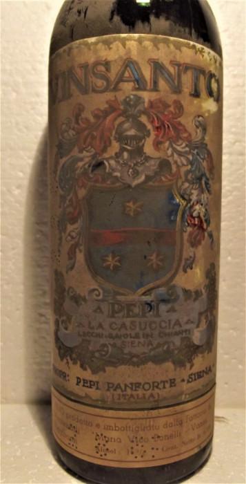 A 94 -Vin VINSANTO PEPI, LA CASUCCIA GAIOLE SIENA, cl 72 gr 16 RECOLTARE 1961