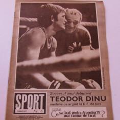 Revista SPORT-nr.6/06.1977 (pregatiri nationala Romaniei,Dudu Georgescu)