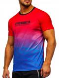 Cumpara ieftin Tricou de trening roșu cu imprimeu bărbați Bolf KS2064