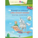 Carte Povesti cu unicorni - Bilingv + Joc Domino pentru copii, Editura DPH