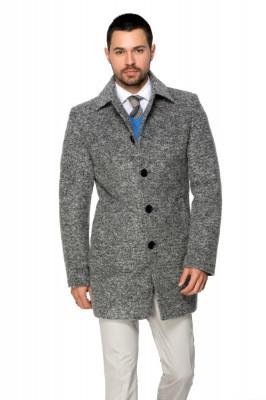 Palton barbati gri din lana cotta B161 foto