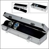Cutie aluminiu pentru 7 ceasuri interior catifea neagra - Fashion