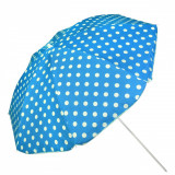 Umbrela pentru plaja plaja, 200cm, alb/albastru