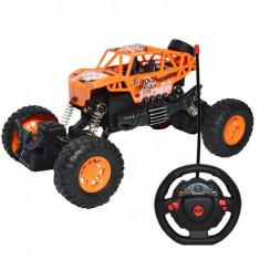 Masinuta Jeep radiocomandata cu acumulator reincarcabil si suspensii independente Off-road 1:18 Rock Crawler