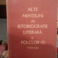 ALTE MENTIUNI DE ISTORIOGRAFIE LITERARA SI FOLCLOR-PERPESSICIUS