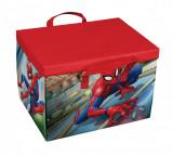 Cutie pentru depozitare jucarii 2 in 1, Spiderman Play Rosu, L41xl31xH28 cm