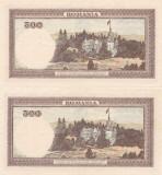 ROMANIA 2 X 500 LEI APRILIE 1941 XF+ CONSECUTIVE