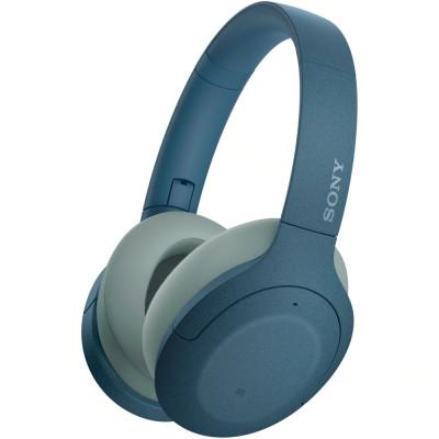Casti Sony WH-H910NL, Noise Canceling, Quick attention, Hi-Res, Wireless, Bluetooth, NFC, LDAC, Autonomie de 35 ore, Albastru foto