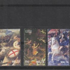 Sf Gheorghe pictuti ,cai ,Malta., Militar, Nestampilat