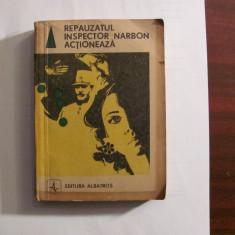 "V. BOCSANU ""Repauzatul Inspector Narbon Actioneaza"" Culegere povestiri politiste"