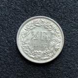a551 Elvetia 1/2 franc 1957