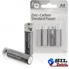 Baterii AA zinc-carbon 4 buc/blister HQ
