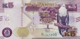 ZAMBIA █ bancnota █ 5 Kwacha █ 2018 █ P-57 █ UNC █ necirculata