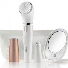 Epilator facial Braun SE 831 Beauty Edition, Wet&Dry (Alb-Auriu)