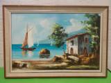 Cumpara ieftin Peisaj MEDITERANEAN - superba PICTURA  in ULEI PE PANZA