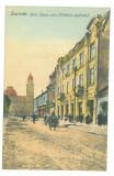 825 - SATU-MARE, street stores, Romania - old postcard - unused - 1913