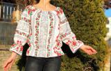 Cumpara ieftin Bluza stilizata cu motive traditionale Daniela 8