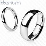 Verighetă din titan - strălucitoare, 4 mm - Marime inel: 48