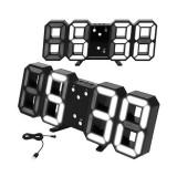 Cumpara ieftin Ceas digital LED, termometru, data, functie alarma, fixare perete, 12/24h
