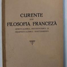 CURENTE DIN FILOSOFIA FRANCEZA de MIRCEA MANCAS , 1938