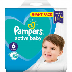 Scutece Pampers Active Baby 6 Giant Pack, 56 bucati