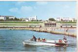 Bnk cp Eforie - La plaja - uzata, Circulata, Printata