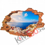 "Sticker ""Wall Crack"" Santorini 9 - 120 x 80 cm"