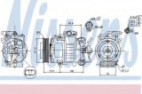Compresor clima / aer conditionat VW GOLF VI Variant (AJ5) (2009 - 2013) NISSENS 89026