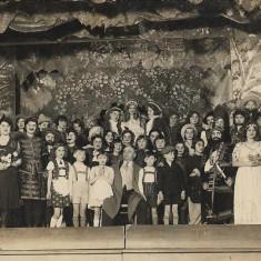 Fotografie copii piesa teatru interbelica poza veche