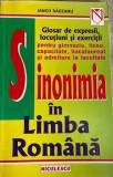 Sinonimia in limba romana Iancu Saceanu, Niculescu