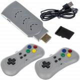 Mini consola retro tip Gamestick HDMI cu 2 controlere, 200 jocuri clasice, Gri