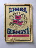 Manual limba Germana pentru clasa II-a 1977, Dimensiuni: 24cm x 17cm  142 pagini