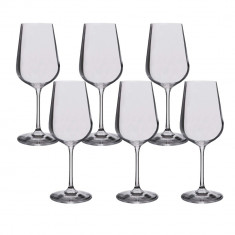 Set 6 pahare cristal vin alb Bohemia Selection, 360 ml