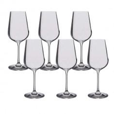 Set 6 pahare cristal vin alb Bohemia Selection, 360 ml