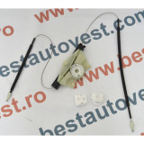 Kit reparatie macara geam fata Seat Leon 1M, Toledo 1999-2005, usa fata partea Stanga (cablu role si suport geam)
