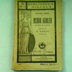 HEDDA GABLER - HENRIK IBSEN (DRAMA IN 4 ACTE)