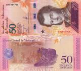 VENEZUELA 50 bolivares 15 ianuarie 2018 UNC!!!