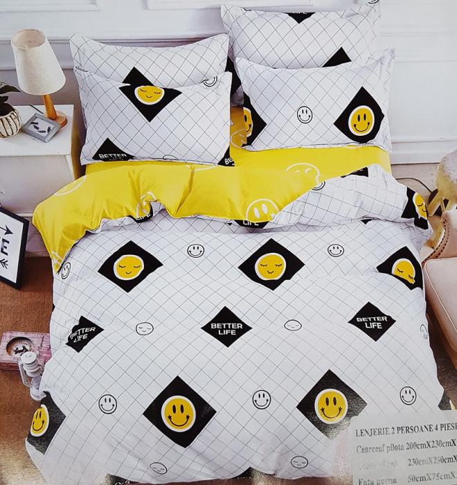 Lenjerie de pat – 2 persoane – 4 piese (model 0213)