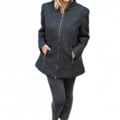 Jacheta usoara de toamna, primavara, culoare neagra, cu gluga