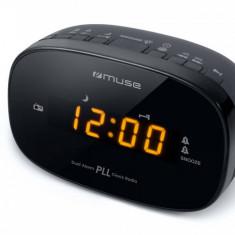 Radio cu ceas MUSE M-150 CR Black