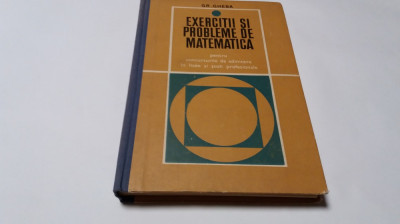 EXERCITII SI PROBLEME DE MATEMATICA PENTRU ADMITERE IN LICEE    GHEBA--RM4 foto