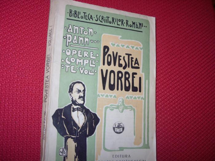 ANTON  PANN  - CULEGERE  DE  PROVERBURI  SAU  POVESTEA  VORBEI  ( vol. 1 ) *