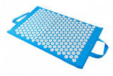 Saltea de masaj cu presopunctura, acupunctura, 2 manere de transport, dimensiune 67x40 cm, albastru