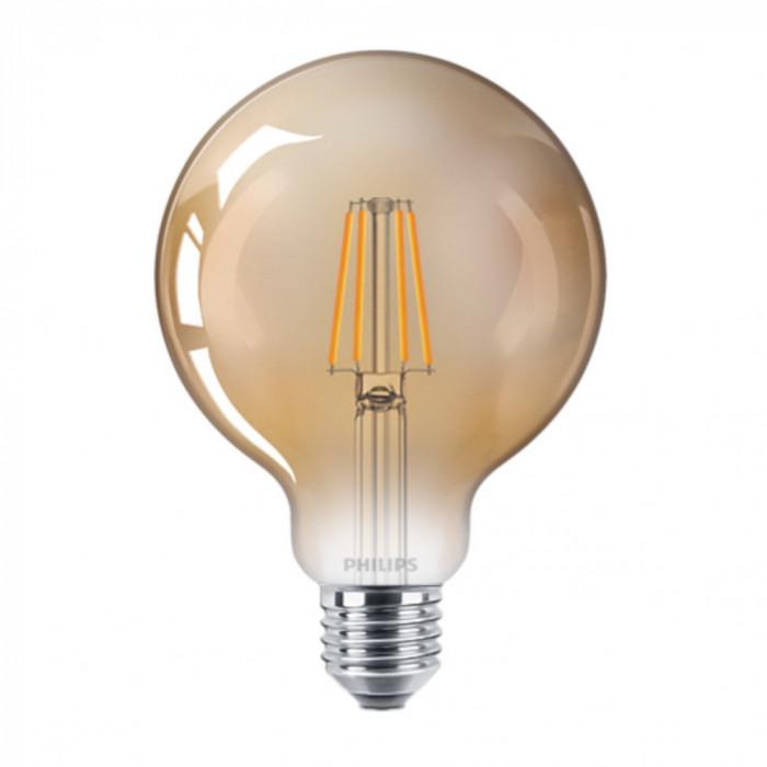Bec LED Filament Philips 4W(35W) E27 G93 Glob 400 lm 2500K Vintage Gold