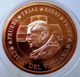5.395 VATICAN PAPA BENEDICT XVI MODEL EURO 1 CENT SPECIMEN PRUEBA, Europa