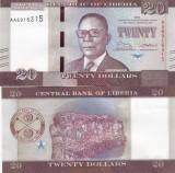 Liberia 20 Dollars 2016 UNC