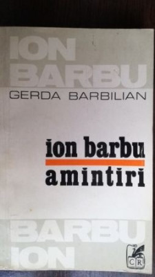 Ion Barbu- Amintiri foto
