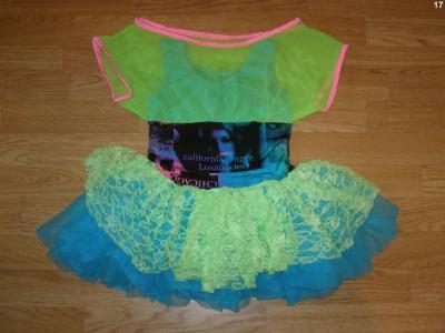 costum carnaval serbare rochie dans pentru copii de 7-8 ani foto