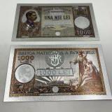 Romania–lot 11 buc.(replici/reproduceri)-Bancnote polimer placate cu argint 999‰