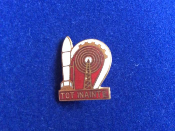 Insignă pionieri - Insignă România - Pionier - Tot înainte - Tehnică rachetă